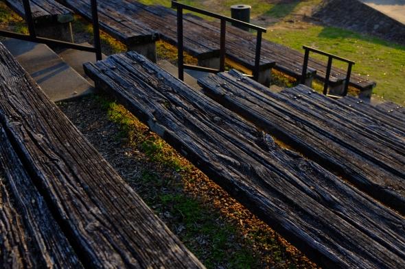 wooden bleachers 1